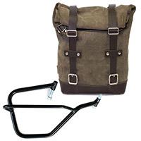 Unit Garage Leather Bag+dx Frame Grey
