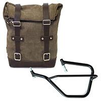 Unit Garage Leather Bag+sx Frame Grey