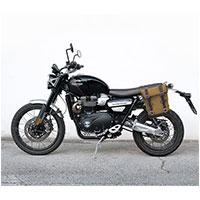 Unit Garage Canvas+telaio Sx Triumph Scrambler Beige