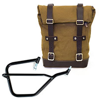 Borsa Canvas+telaio Dx Unit Garage Beige Marrone