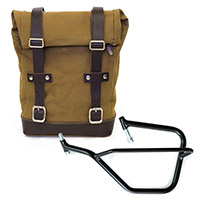 Borsa Canvas+telaio Sx Unit Garage Beige Marrone