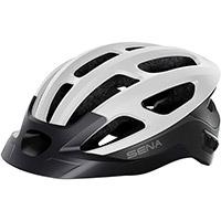 Casco Ciclismo Sena R1 Evo Smart Bianco Opaco