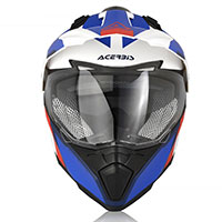 Acerbis Flip Fs-606 Helmet White Blue Red