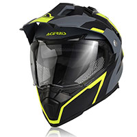 Acerbis Flip Fs-606 Helmet Black Grey Yellow
