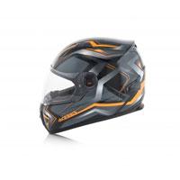 Acerbis Full Face Fs-807 Black Fluo Orange Helmet - 3