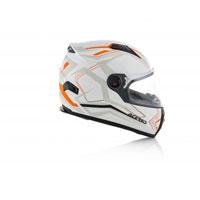 Acerbis Full Face Fs-807 Bianco Arancione 2018