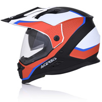 Casque Acerbis Reactive Graffix Rouge Blanc