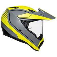 Agv Ax9 Pacific Road Helmet Yellow Fluo Matt Grey
