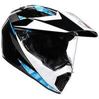 Agv Ax9 North Black Cyan White