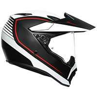 Agv Ax9 Pacific Road Helmet Matt Black White Red