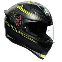 Agv K1 Track 46 Helmet Black Yellow