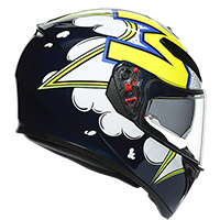 Agv K-3 Sv Bubble Helmet Blue White Yellow