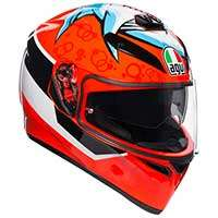 Agv K-3 Sv Attack Helmet Red