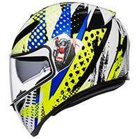 Agv K-3 Sv Pop Helmet White Blue Lime