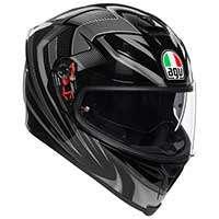 Agv K5 S Hurricane 2.0 Helmet Black Silver