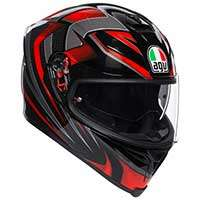 Agv K5 S Hurricane 2.0 Helmet Black Red