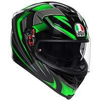 Agv K5 S Hurricane 2.0 Helmet Black Green