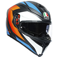 Agv K5 S Core Helmet Black Matt Blue Orange