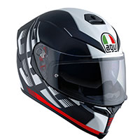 Agv K-5 S Darkstorm Matt Black Red