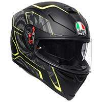 Agv K5 S Tornado Helmet Fluo Yellow Black
