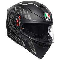 Agv K5 S Tornado Helmet Black Silver