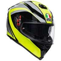 Agv K5 S Typhoon Helmet Black Gray Yellow Fluo