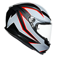 Agv K6 Flash Helmet Black Matt Grey Red