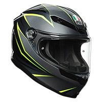 Agv K6 Flash Helmet Grey Black Lime