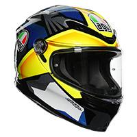 Agv K6 Joan Helmet Black Blue Yellow