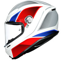 Agv K6 Hyphen White Red Blue