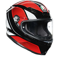 Agv K6 Hyphen Black Red White