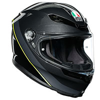 Agv K6 Minimal Gun Metal Black Fluo Yellow