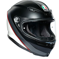 Agv K6 Minimal Pure Matt Black White Red