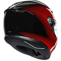 Agv K6 Rush Black Red