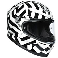 Agv K6 Secret Black White