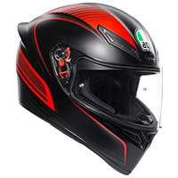 Agv K1 E2205 Warm Up Helmet Black Red