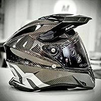 Airoh On-off Commander Helmet Carbon Gloss
