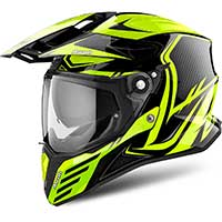 Airoh On-off Commander Casque Jaune Fluo