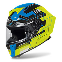 Casco Airoh Gp 550 S Challenge Blu Giallo Opaco
