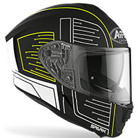 Airoh Spark Cyrcuit Helmet Black Matt Fluo Yellow