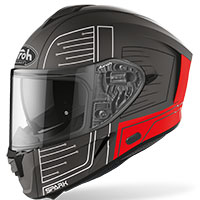 Airoh Spark Cyrcuit Helmet Red Matt