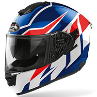 Casco Airoh St 501 Frost Blu Rosso Lucido