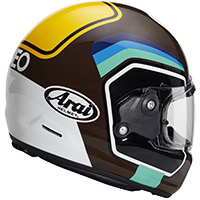 Casco Arai Concept X Number marrón