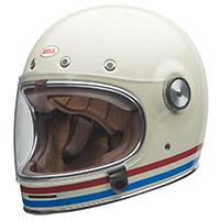 Bell Bullitt Dlx Streifen Vintage Helm Weiß - 2