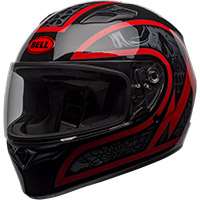 Casco Bell Qualifier Scorch negro rojo