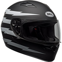Casco Bell Qualifier Z Ray negro opaco blanco
