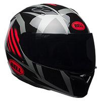 Casco Bell Qualifier Blaze negro brillante rojo