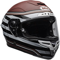 Casco Bell Race Star Flex Dlx Rsd The Zone Rosso