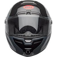 Bell SRT Razor Helm schwarz grau rot - 4