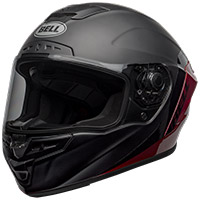 Casco Bell Star Dlx Mips Shockwave negro rojo